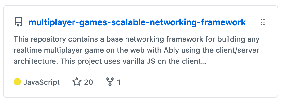 An image of the github repo of the scalable networking framework